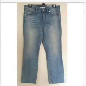 Madewell Boy Jean light wash row-hem denim jeans